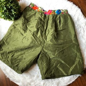 Clipper Bay Green Multi Vintage High Waisted Short